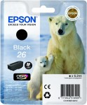 Black Genuine Epson 26 Ink Cartridge (T2601 Printer Cartridge)