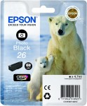 Photo Black Genuine Epson 26 Ink Cartridge (T2611 Printer Cartridge)