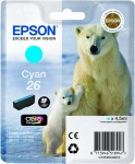 Cyan Genuine Epson 26 Ink Cartridge (T2612 Printer Cartridge)