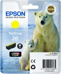 Yellow Genuine Epson 26 Ink Cartridge (T2614 Printer Cartridge)