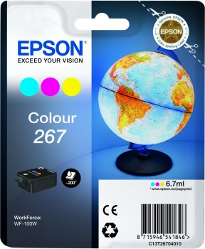 Epson 267 Color Ink Cartridge - T2670, 6.7ml