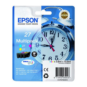 3 Colour Epson 27 Ink Cartridge T2705 Printer Cartridge