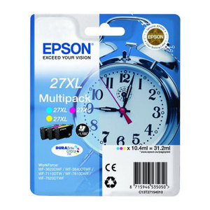 Epson 27XL High Capacity 3 Colour T2715 Ink Cartridge Multipack