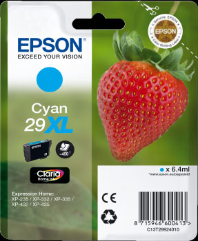 Cyan Epson 29XL Ink Cartridge (T2992) Printer Cartridge
