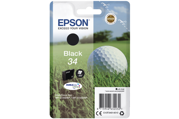 Black Epson 34 Ink Cartridge (T3461 Printer Cartridge)