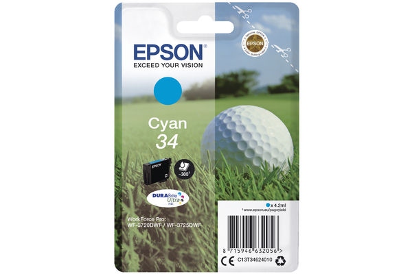 Cyan Epson 34 Ink Cartridge (T3462 Printer Cartridge)