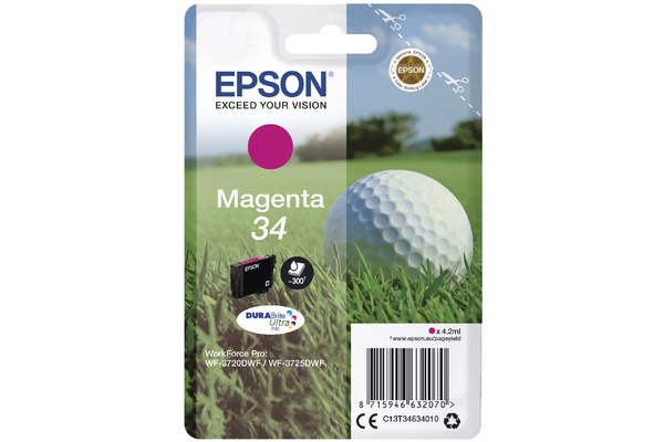 Magenta Epson 34 Ink Cartridge (T3463 Printer Cartridge)