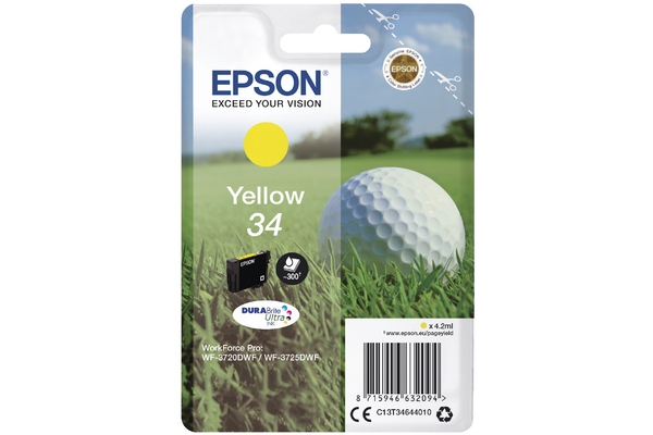 Yellow Epson 34 Ink Cartridge (T3464 Printer Cartridge)