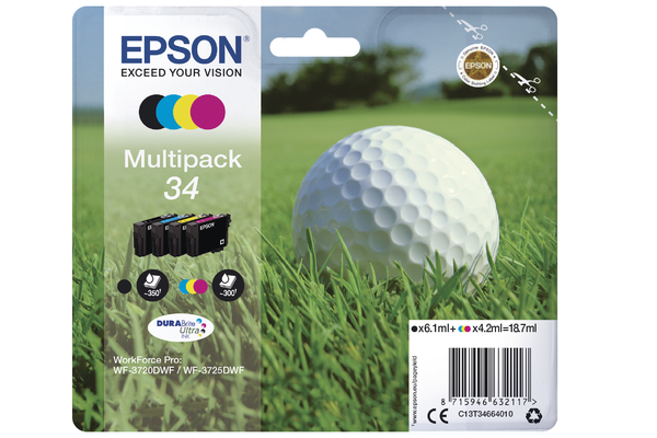 4 Colour Multipack Epson 34 Ink Cartridge (T3466 Printer Cartridge)