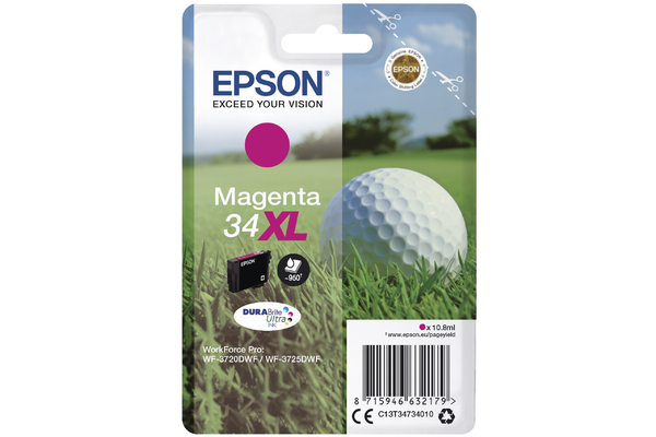 Magenta Epson 34XL Ink Cartridge (T3473 Printer Cartridge)