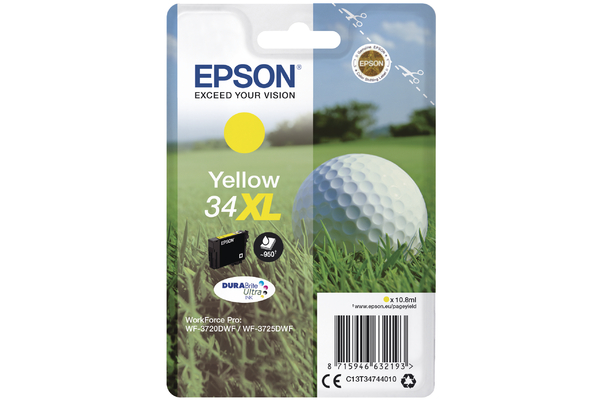 Yellow Epson 34XL Ink Cartridge (T3474 Printer Cartridge)