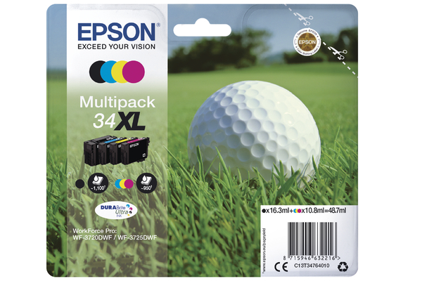 Multipack Epson 34XL Ink Cartridge (T3476 Printer Cartridge)