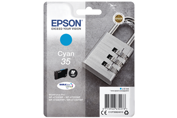 Cyan Epson 35 Ink Cartridge (T3582) Printer Cartridge