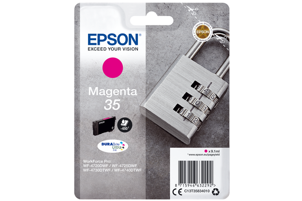 Epson 35 Magneta Ink Cartridge - T3583 Padlock Inkjet Printer Cartridge