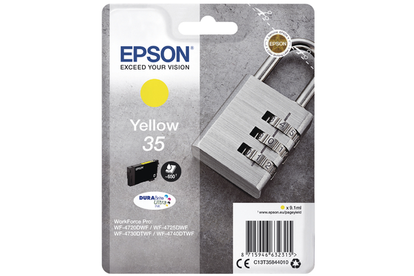 Epson 35 Yellow Ink Cartridge - T3584 Padlock Inkjet Printer Cartridge