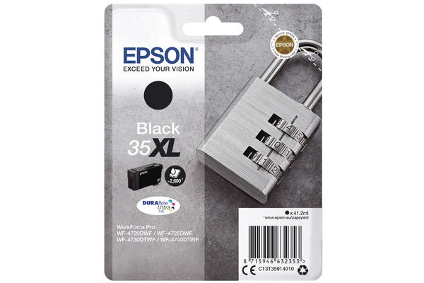Black Epson 35XL Ink Cartridge (T3591) Printer Cartridge