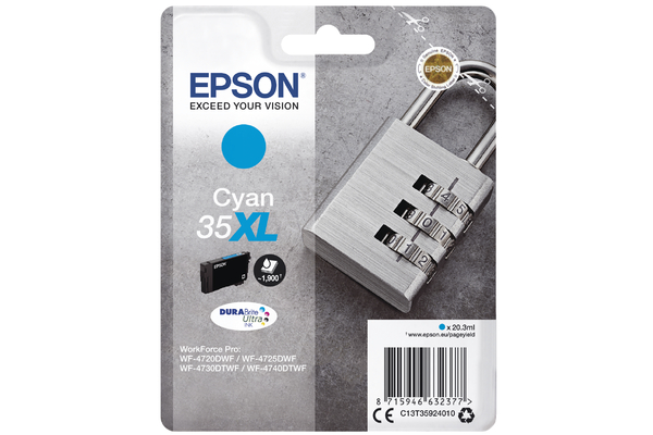 Cyan Epson 35XL Ink Cartridge (T3592) Printer Cartridge