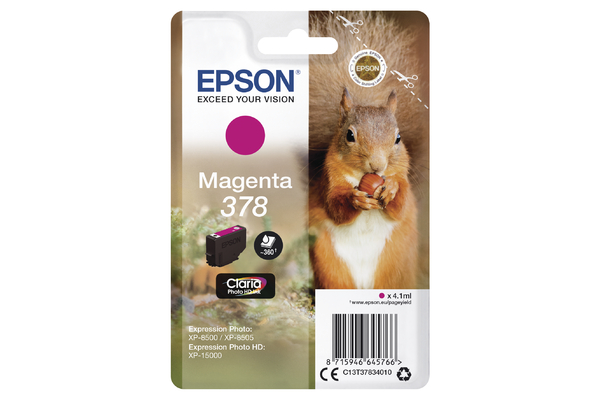 Epson 378 Magneta Ink Cartridge - T3783 Squirrel Inkjet Printer Cartridge