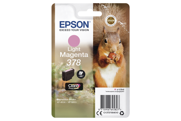 Epson 378 Light Magenta Ink Cartridge - T3786 Squirrel Inkjet Printer Cartridge