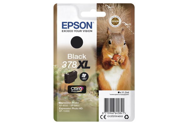 Epson 378XL High Capacity Black Ink Cartridge - T3791 Squirrel Inkjet Printer Cartridge