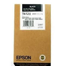 Epson T6121 UltraChrome K3 Photo Black Ink Cartridge C13T612100, 220ml