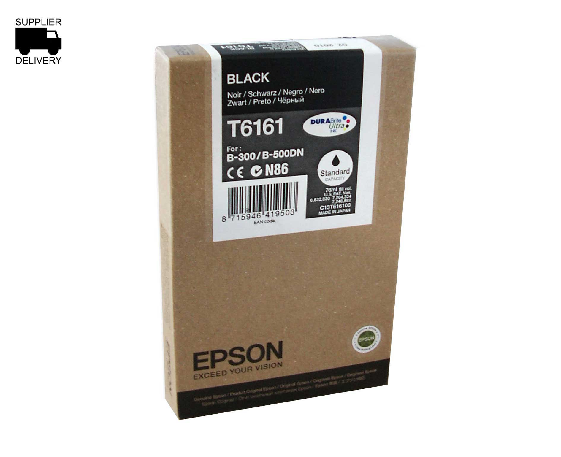 Epson DURABrite T6161 Standard Capacity Black Ink Cartridge C13T616100