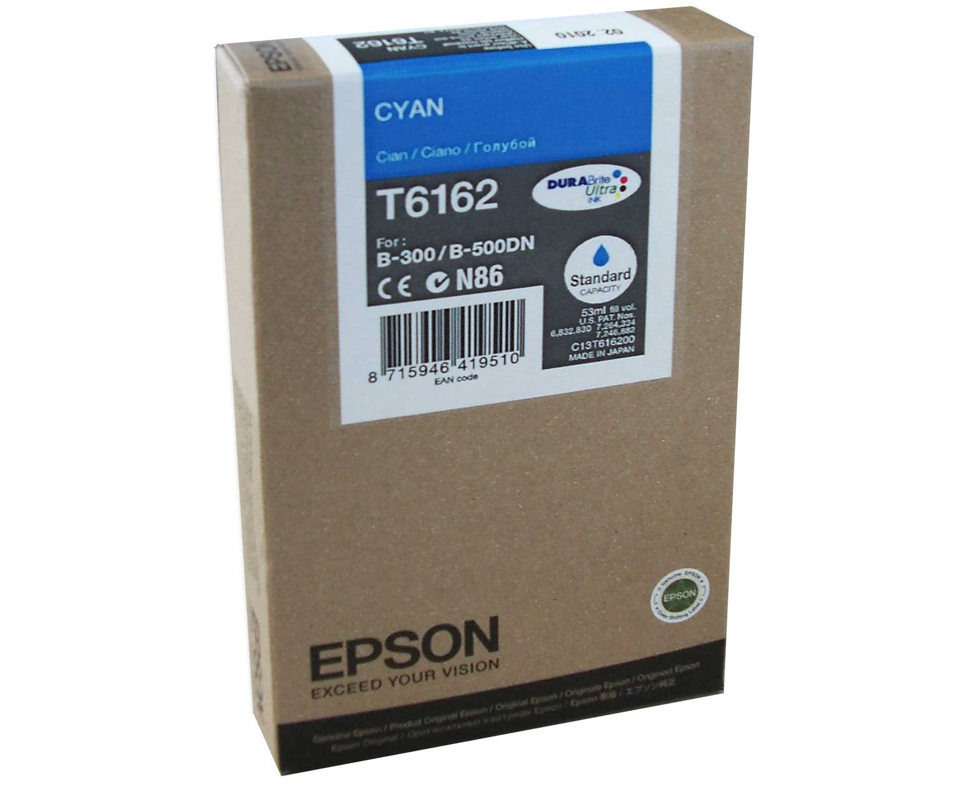 Cyan Epson T6162 Ink Cartridge (C13T616200) Printer Cartridge