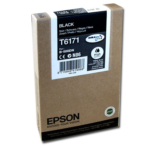 Black Epson T6171 Ink Cartridge (C13T617100) Printer Cartridge