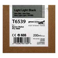 Epson T6539 Light Light Black Ink Cartridge C13T653900, 200ml
