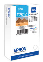 Cyan Epson T7012 XXL Ink Cartridge (C13T70124010 Printer Cartridge)