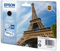 Epson T7021 XL High Capacity Eiffel Tower Black Ink Cartridge