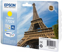 Epson T7024 XL High Capacity Eiffel Tower Yellow Ink Cartridge