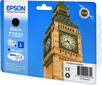 Epson T7031 Standard Capacity Big Ben Black Ink Cartridge