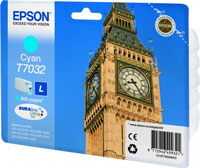 Epson T7032 Standard Capacity Big Ben Cyan Ink Cartridge