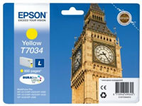 Epson T7034 Standard Capacity Big Ben Yellow Ink Cartridge