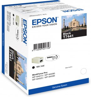 Epson T7441 XXL Extra High Capacity Black Ink Cartridge - 10K, 181.1ml