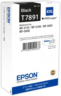 Epson T7891 XXL Extra High Capacity Black Ink Cartridge, 65.1ml