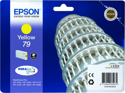 Epson 79 Yellow Tower of Pisa Ink Cartridge, 6.5ml