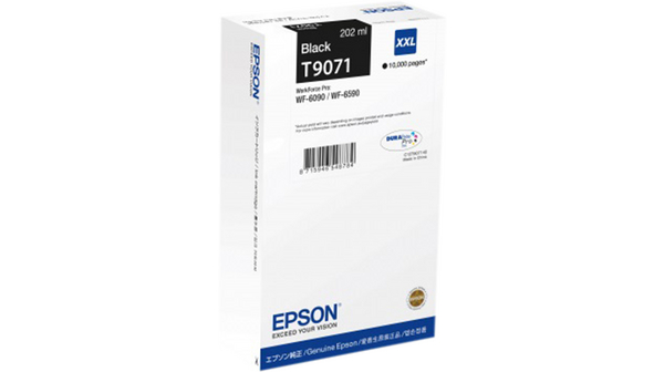 Epson T9071 XXL Extra High Capacity Black Ink Cartridge, 202ml