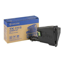 Kyocera TK1115 Black Toner Cartridge, 1.6K Page Yield