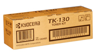 Kyocera TK130 Black Toner Cartridge - TK 130, 7.2K Page Yield