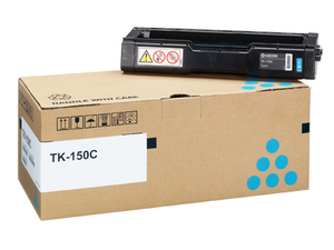 Kyocera TK 150C Cyan Toner Cartridge, 6K Page Yield