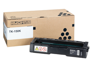 Kyocera TK 150K Black Toner Cartridge, 6.5K Page Yield