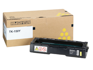 Kyocera TK 150Y Yellow Toner Cartridge, 6K Page Yield