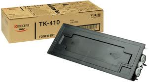 Kyocera TK 410 Black Toner Cartridge, 15K Page Yield