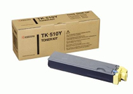 Kyocera TK510Y Yellow Toner Cartridge - TK 510Y, 8K Page Yield