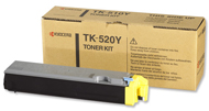 Kyocera TK520Y Yellow Toner Cartridge - TK 520Y, 4K Page Yield