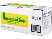 Kyocera TK570Y Yellow Toner Cartridge - TK 570Y, 12K Page Yield