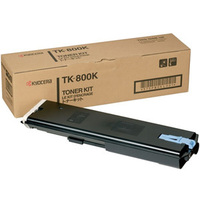 Kyocera TK800K Black Toner Cartridge - TK 800K, 25K Page Yield