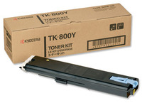 Kyocera TK800Y Yellow Toner Cartridge - TK 800Y, 10K Page Yield